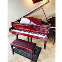 Samick Player Grand Piano w Bench, Polished Mahogany