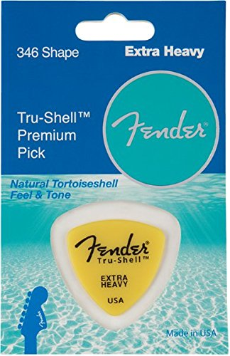 Fender Tru-Shell 346 Shape Guitar Pick, Extra Heavy